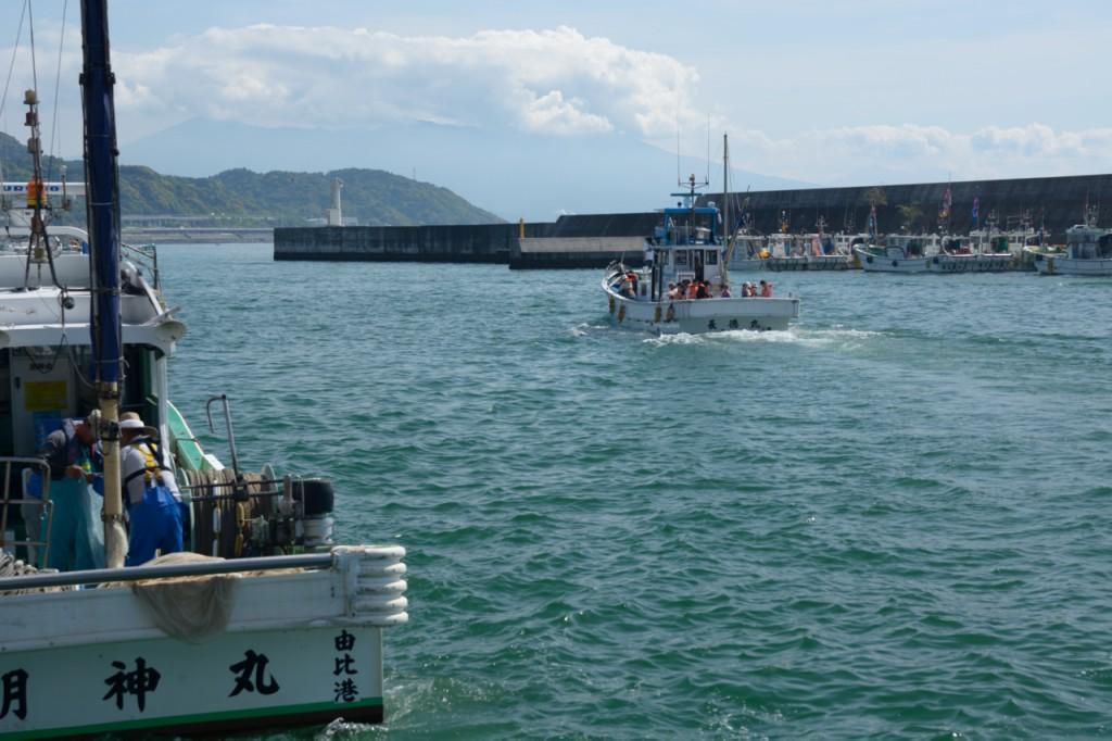 体験乗船では海から富士山が望めるそう